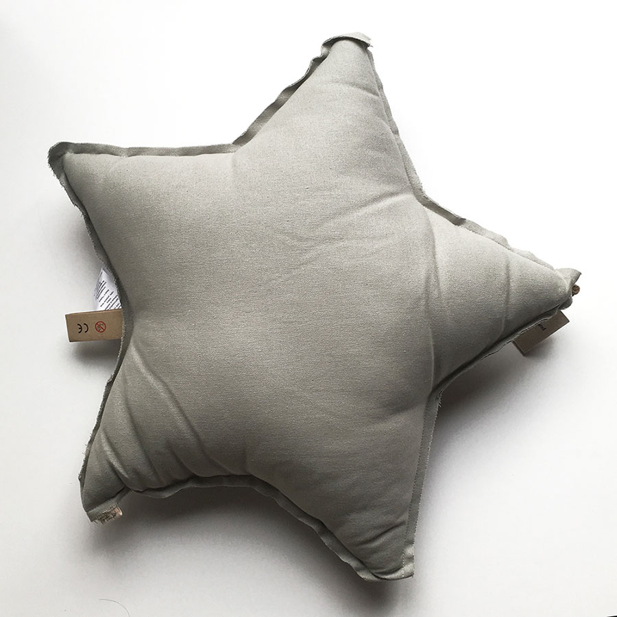 ●Numero 74 ヌメロ  【L】Star Cushions 星のクッション  ライトグレー 52×52cm by イタリア