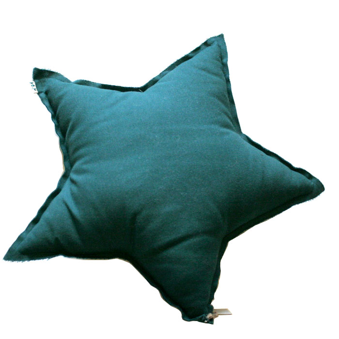 Numero 74 ヌメロ  【L】Star Cushions  星のクッション Teal Blue 52×52cm S022 by イタリア
