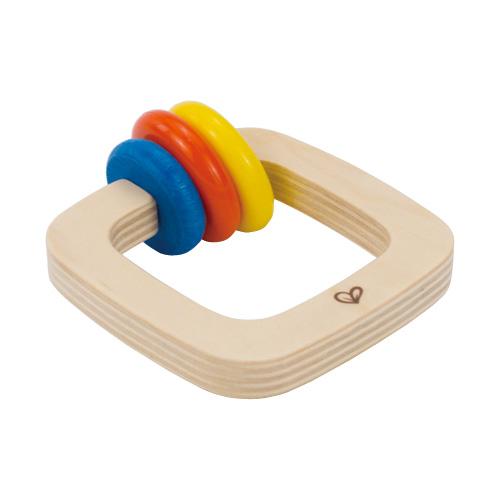Hape ハペ Twister Rattle ツイスターラトル カラフル木製ラトル