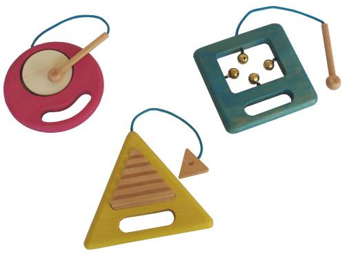 ●gg* ジジ gakki カタチと音を感じて楽しむ遊ぶ 木の楽器 ●▲■