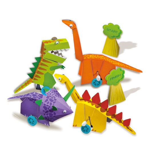 4M ゼンマイ恐竜レース WIND UP DINOSAURS 動く恐竜で競争キット