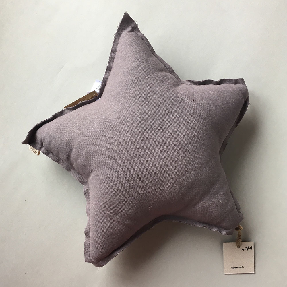●Numero 74 ヌメロ 【L】Star Cushions 星のクッション mauve 52×52cm S041 by イタリア