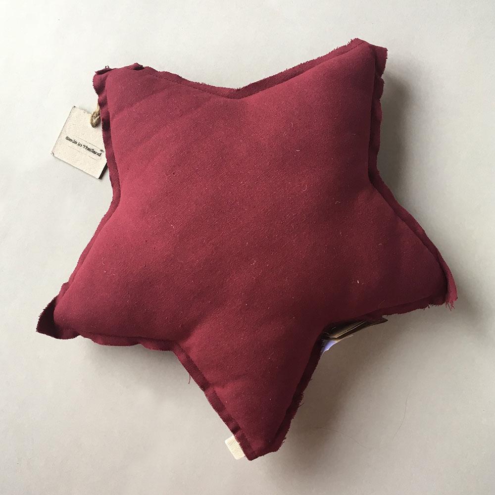 ●Numero 74 ヌメロ  【L】Star Cushions  星のクッション エンジカラー 52×52cm S043 by イタリア