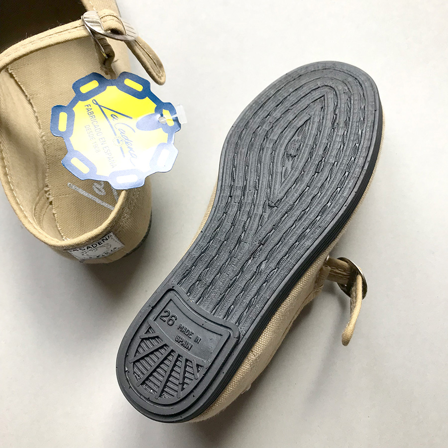 La Cadena JAPONESA - One Strap BEIGE ストラップシューズ 11.5-18.5cm