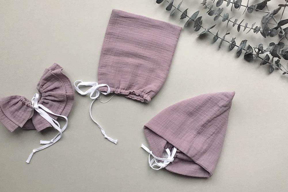● LAST1 ドイツから liilu pixie bonnet オーガニックコットン [※1 クリックポスト可]  モーブ