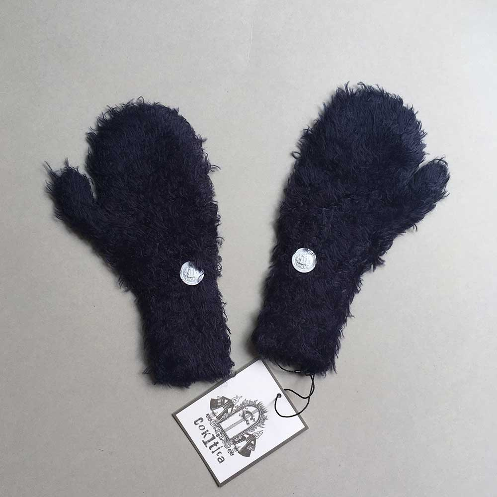 [再下 50%OFF]cokitica コキチカ moke knit mittens  S/M 伸びが良いので大人の手も入ります [クリックポスト可]