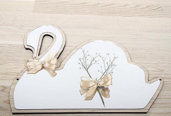 デンマークから Maseliving メーセリビング オーク材 ×壁掛けミラー Swan 約29 x 35cm