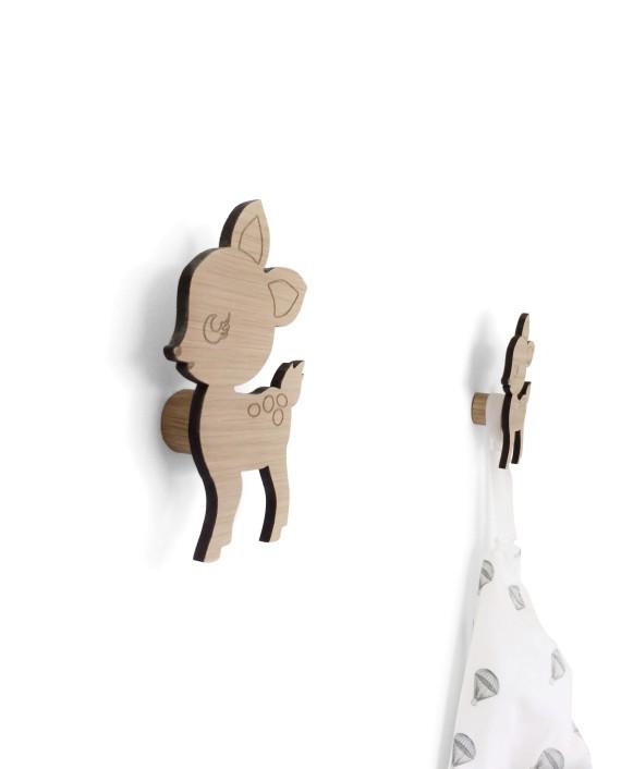 ●デンマークから Maseliving メーセリビング オーク材 壁かけフック Bambine 約14.5 x 8.5cm