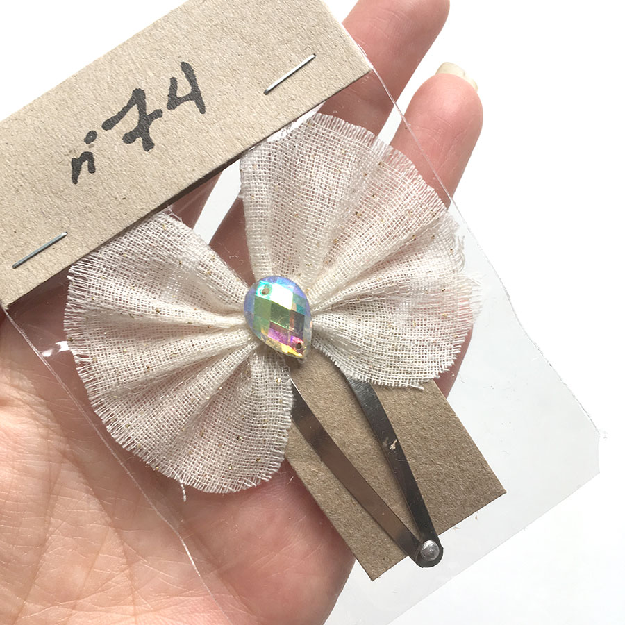Numero 74 Luna Hair Clip ホワイト [※1 クリックポスト可]