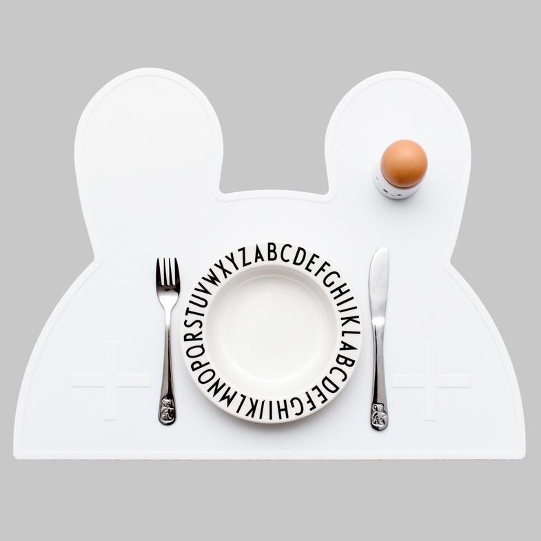 オーストラリアから  We might be tiny シリコン製プレイスマット お食事マット Bunny Placie-White