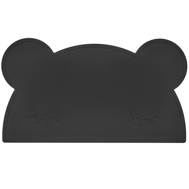 オーストラリアから We might be tiny シリコン製プレイスマット お食事マット Bear Placie-Black
