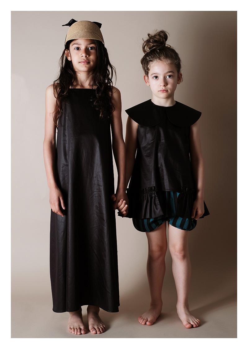 ● WOLF & RITA ウルフ&リタ LUNA - Blouse BLACK SATIN -/-/-/130
