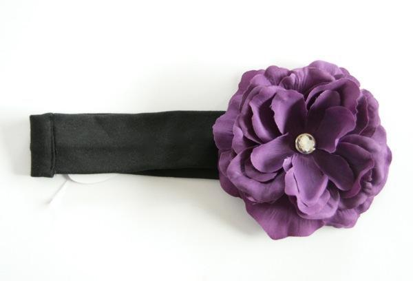 【-60%再下】Gigis ジジス お花の帽子が有名なジジス フラワーコットンヘアバンド Black_9(Purple Diva) 0-2歳/2-5歳