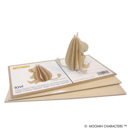 ●lovi オーナメントカード MOOMIN(ムーミン) / 9cm (プライウッド白樺)