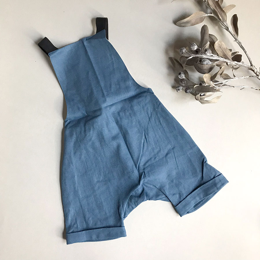 [50%OFF] From spain Popelin Mid-length blue jumpsuit 80-90/90-100/-/110-120/120-130/- blue