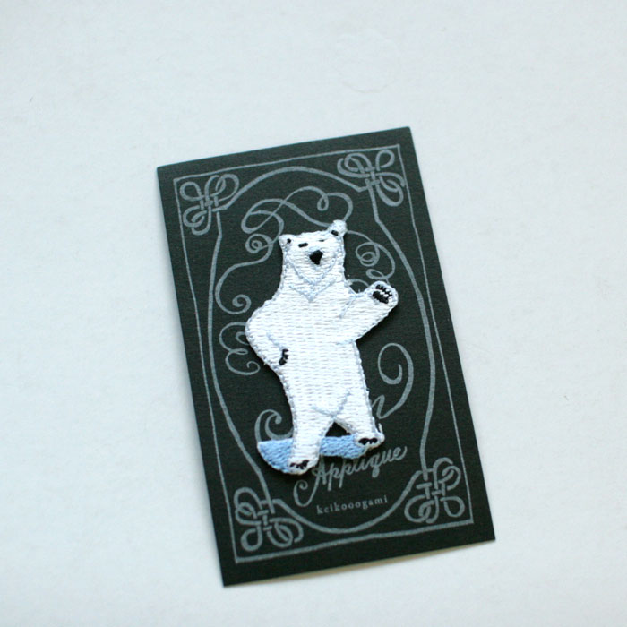 keikooogami 大神慶子 アイロンアップリケ Polar Bear 2枚セット