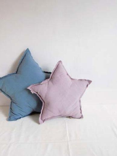 Numero 74 ヌメロ  【L】Star Cushions 星のクッション  ダスティセージ 52×52cm by イタリア