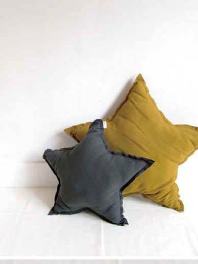 Numero 74 ヌメロ 【S】 Star Cushions  星のクッション Teal Blue 42×42cm te1 by イタリア