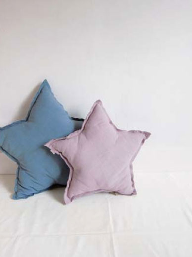 ●Numero 74 ヌメロ  【L】Star Cushions 星のクッション pastel light pink2 52×52cm 015 by イタリア