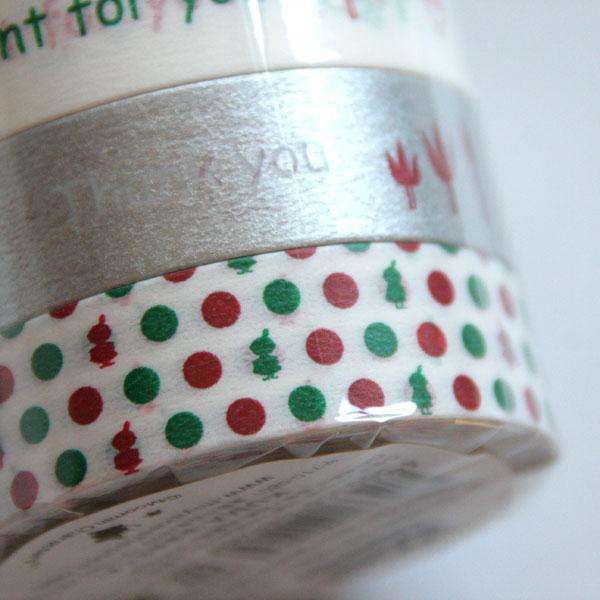 mt マスキングテープ MOOMIN ムーミン 『クリスマス』4個セット