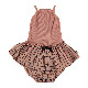[30%OFF] From spain MY LITTLE COZMO DRESS BABY - CARTAGO LUNA85 /カラー PEACH GRID /50-60/70-80/80-90