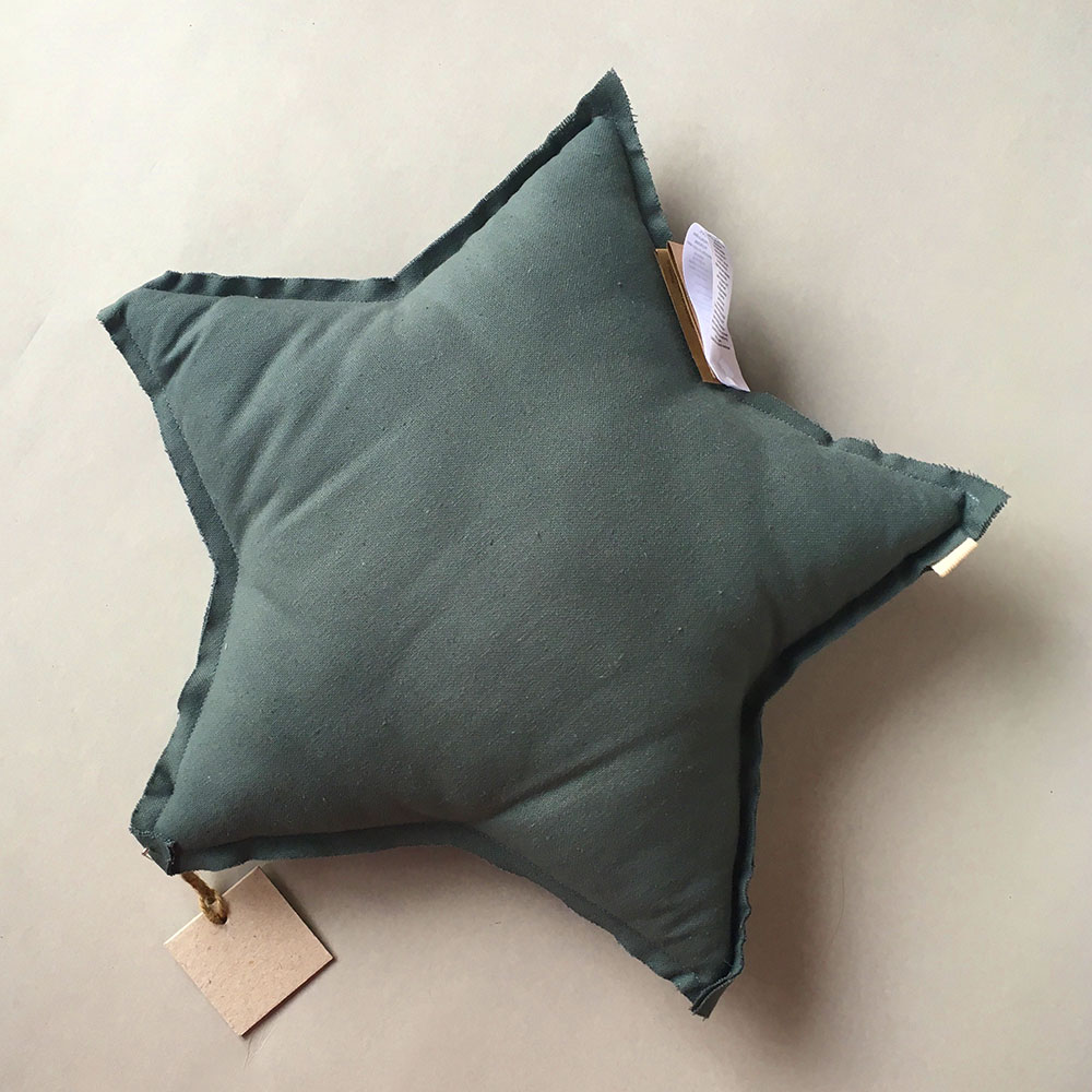 Numero 74 ヌメロ  【S】Star Cushions 星のクッション ICE BLUE 42×42cm sg1 by イタリア