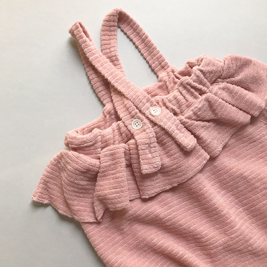 【30%OFF】 From spain 1+in the family STINTINO girly romper -/80/90 ROSE