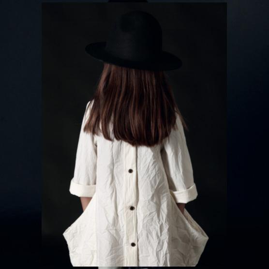 ●little crative factory スペインから  17AW  Alma's Pocket Dress -/4Y/6Y/8Y/10Y/12Y/- BLACK