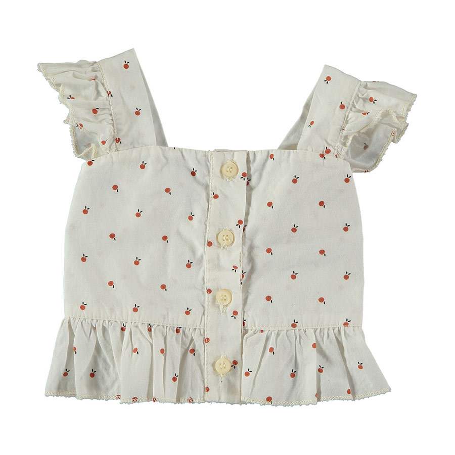 [30%OFF] From spain MY LITTLE COZMO TOP BABY HISA78 /カラー IVORY FRUITS /50-60/70-80/80-90