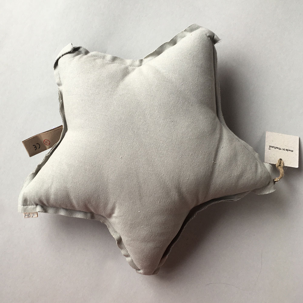 Numero 74 ヌメロ  【S】Star Cushions 星のクッション pastel light gray 42×42cm 019 by イタリア
