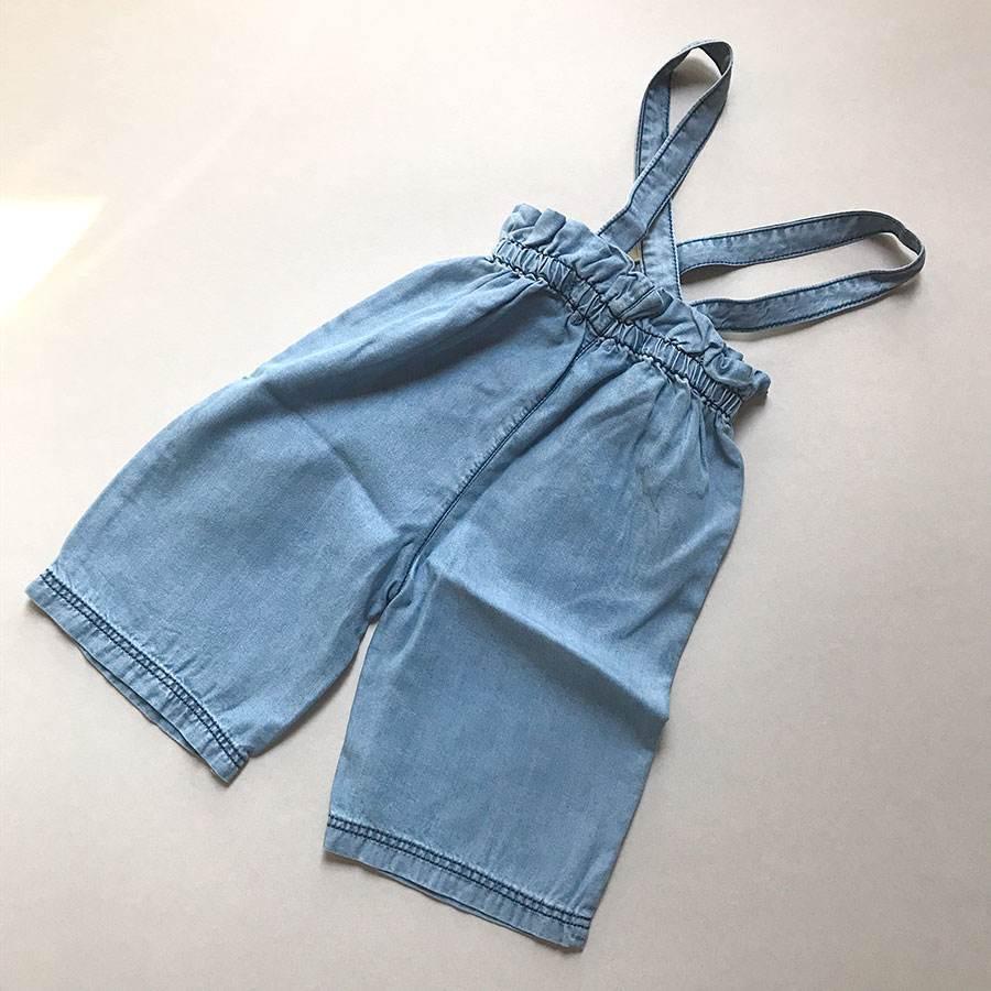 【30%OFF】 From spain 1+in the family INCA girly pant FABRIC: Washed tence ダンガリーワイドパンツ 80/90