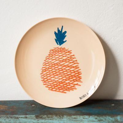 ●BOBO CHOSES Melamine Plate 直径21.5cm Pear/Banana/Apple/Pineapple