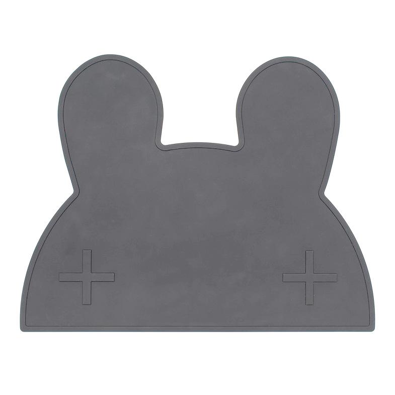 オーストラリアから We might be tiny シリコン製プレイスマット お食事マット Bunny Placie-Black