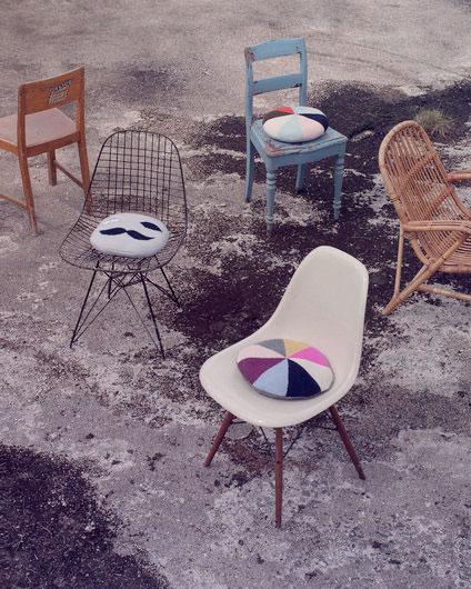 ●LUCKYBOYSUNDAY ラッキーボーイサンデー bobby chair pillow / wood  サークルクッション