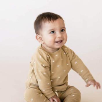 [40%OFF] Quincy Mae オーガニックコットン Longsleeve Baby Tee  [ネコポス対応可] HONEY 60-70/80/90