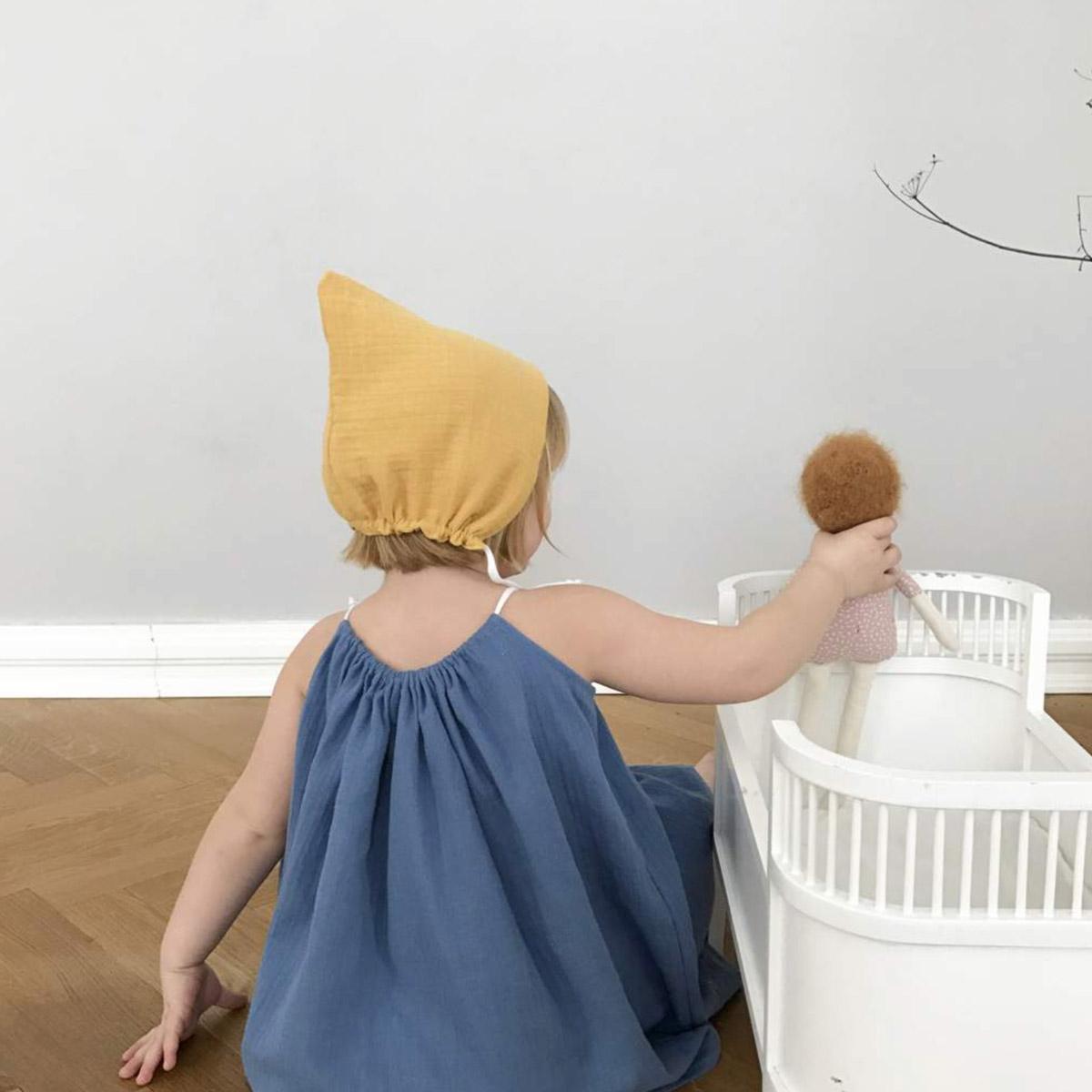 ●ドイツから liilu pixie bonnet オーガニックコットン [※1 クリックポスト可] black