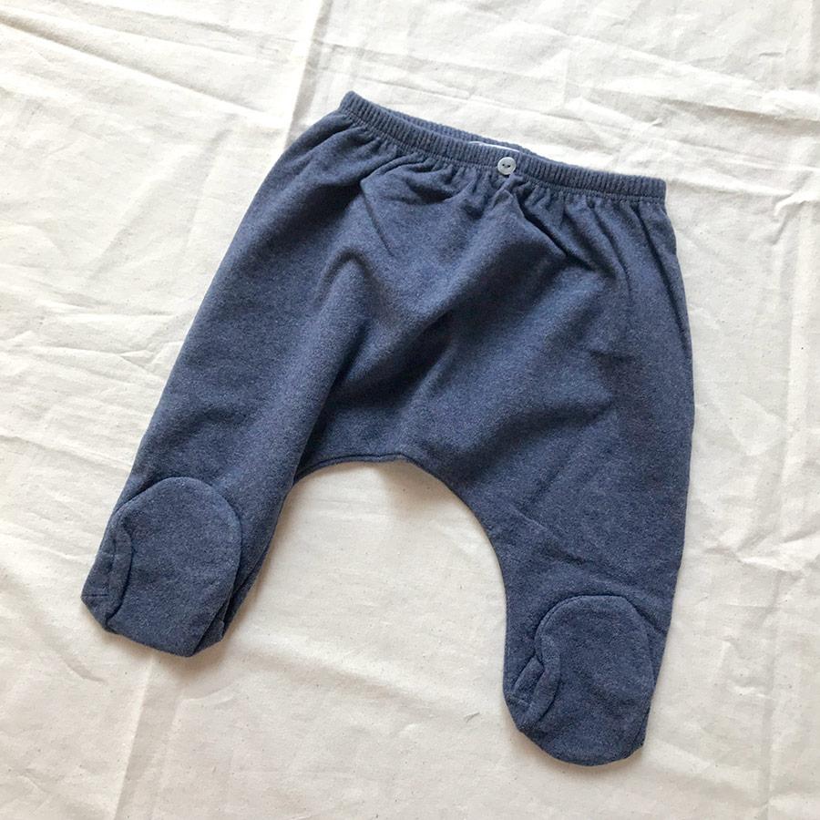 [50%OFF]スペインから 1+in the family  [※1 クリックポスト可]  RIM leggin with feet BLUE   脚付きレギンス -/80