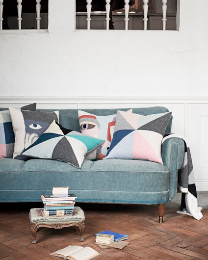 LUCKYBOYSUNDAY ラッキーボーイサンデー favourite place pillow / grey おうちのクッション