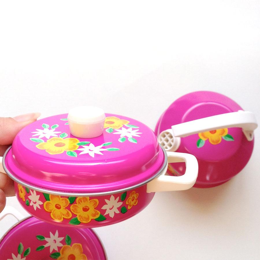 ドイツ SCHOPPER Kinder-Geschirr社 キッチンおままごとセット ピンク
