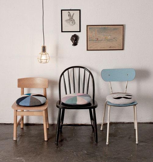 ●LUCKYBOYSUNDAY ラッキーボーイサンデー bobby chair pillow / apple  サークルクッション