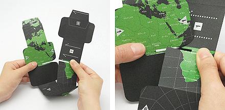 ●geografia ジオグラフィア 8つの立方体[アース&スカイ]回転式地球儀