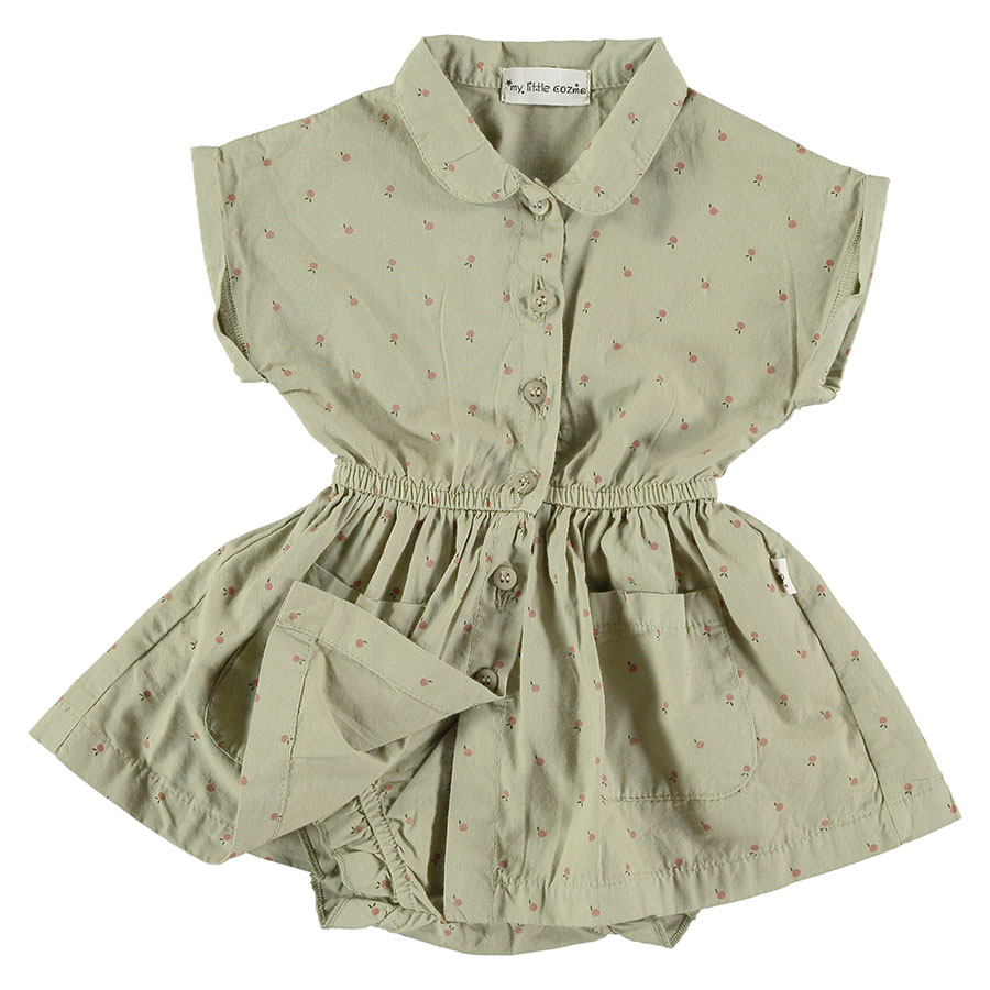[30%OFF]From spain MY LITTLE COZMO ワンピース ブルマー セット  DRESS BLOOMER SANDY78 /カラー KHAKI 80-90
