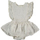 [30%OFF]From spain MY LITTLE COZMO リネン ROMPER  DRESS  ANAI82 /カラー IVORY 60/80/90