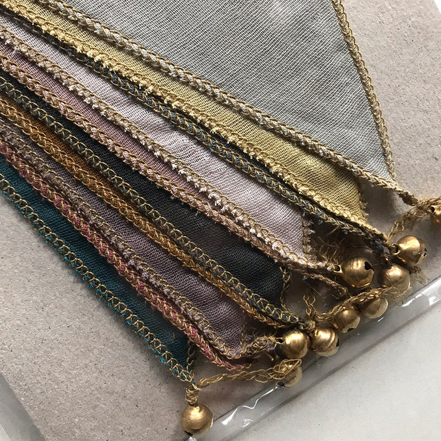 Numero 74 Bunting Garland Organic cotton mix fabrics マルチカラー 2.5m