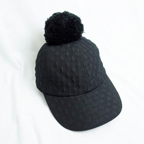 ●DOTS MT CAP +BONBON CAP  1/2  BK