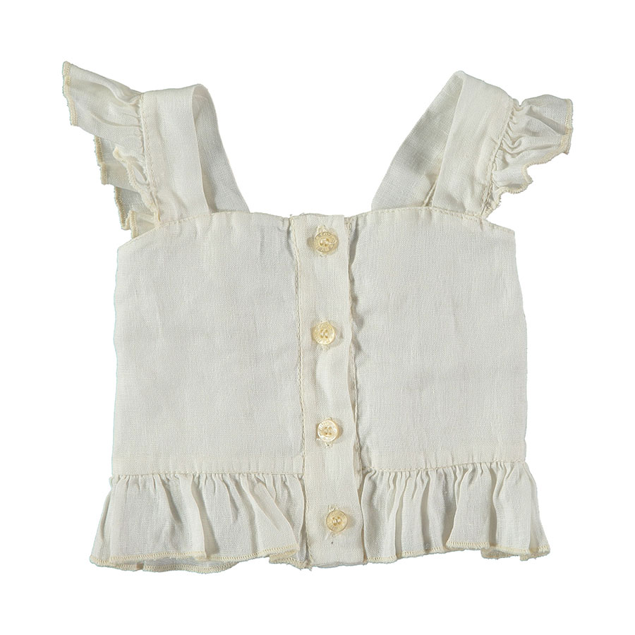 [30%OFF]From spain MY LITTLE COZMO TOP BABY HISA78 /カラー IVORY /50-60/70-80/80-90