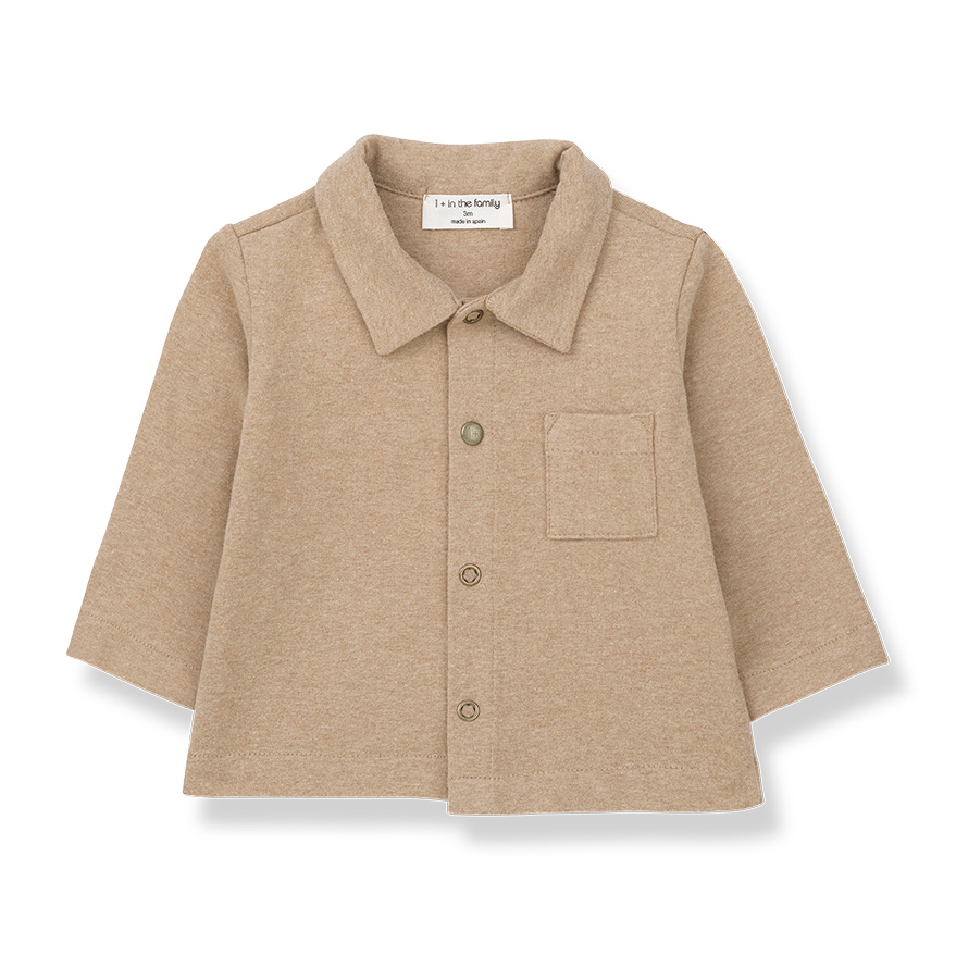 [50%OFF] From spain 1+in the family LUGO shirt BEIGE NB-60/70-80/80-90/100 BLACK