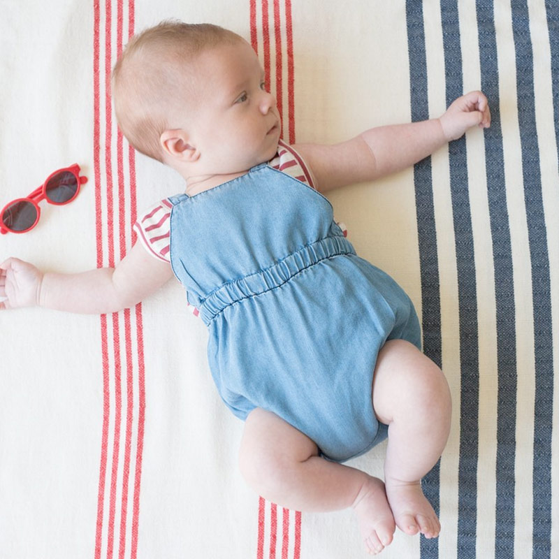 [50%OFF]  From spain 1+in the family MAO romper ダンガリーロンパース  80/90 1+in the family ワンモアインザ・ファミリー\肌着・ロンパース・ボディ