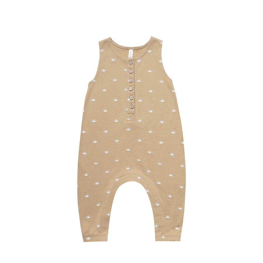 ●Quincy Mae オーガニックコットン Sleeveless Jumpsuit  [ネコポス対応可] Honey 80/90-100