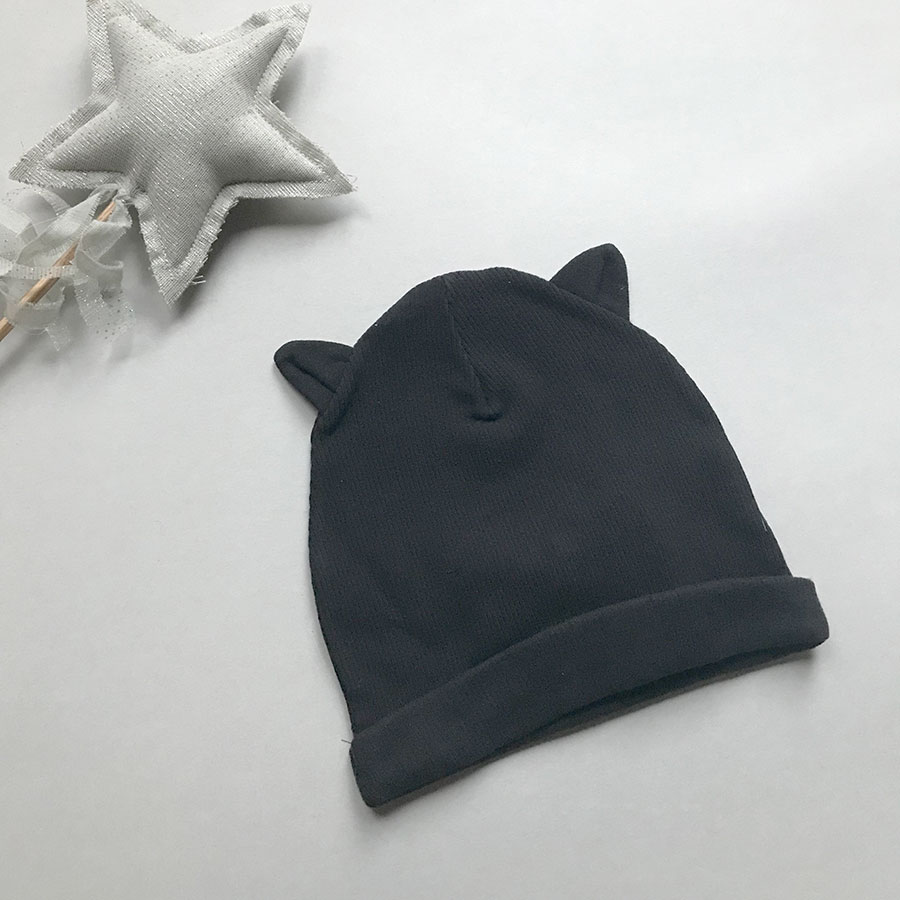 [40%OFF] From Spain 1+in the family  PARIS beanie w/ears RIB CAP 新生児-52/50-54 BLACK